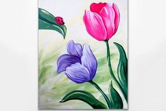 Paint Nite: Admiring Tulips (Ages 6+)