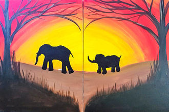 All Ages Paint Nite: Momma Elephant's Heart