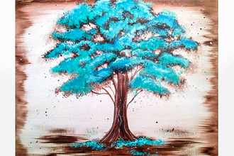 Paint Nite Antique Teal Tree