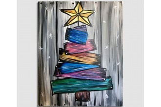 Paint Nite: Barn Board Christmas Tree