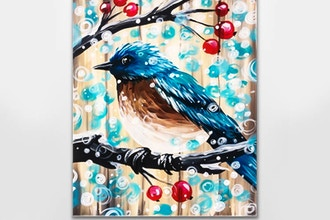Paint Nite: Barn Board Snow Bird