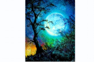Paint Nite: Beautiful Moonlit Night