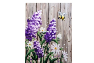 Paint Nite: Bee-utiful Barnyard Lilacs (Ages 6 & up)