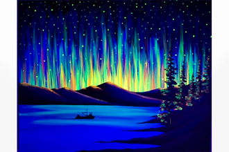Black Light Northern Lights the Way