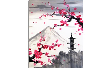 Paint Nite: Blossoms Over The Pagoda