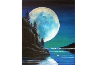 Paint Nite: Blue Moon Rising