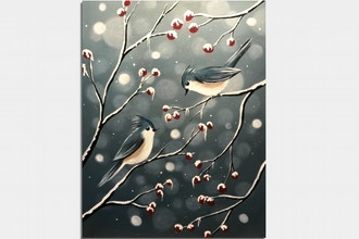 Paint Nite: Bokeh Birds II