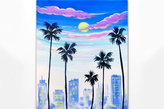 Paint Nite: Busy Downtown Palms