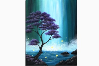 Virtual Paint Nite: Butterfly Falls (Ages 13+)
