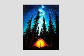 Paint Nite: Camping under Galaxy Stars