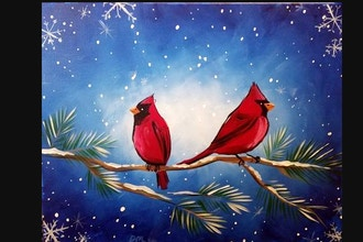 Virtual Paint Nite: Cardinal Snowflakes (Ages 18+)