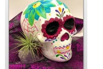 Paint Nite Innovation Labs: Ceramic Skull Painting