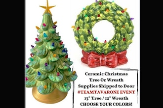 Virtual Choose your Ceramic Tree or Wreath (Ages 13+)
