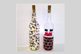 Paint Nite: Choose Your Christmas Design - Wine Bottle