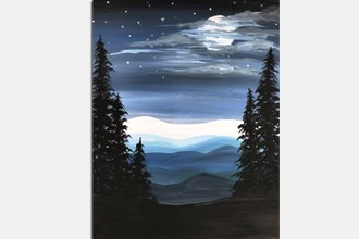 Paint Nite: Cold Blue Mountain