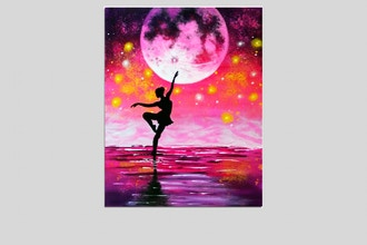 All Ages Paint Nite: Dancing Under Moonlight