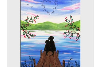 Paint Nite: Doggy Love On The Dock
