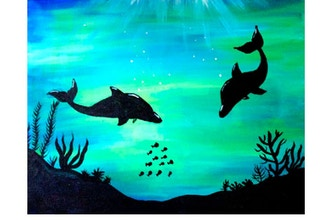 Paint Nite: Dolphins of the Deep