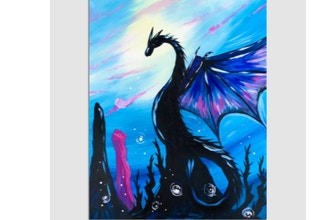 Virtual Paint Nite: Dragon Lands