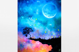 Paint Nite: Dreamy Moonlit Sunset
