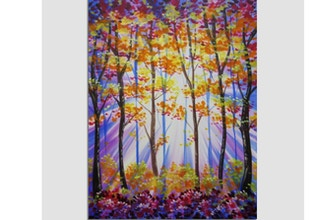 Paint Nite: Fall Forest Radiance