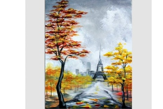 Paint Nite: Falling For Paris V