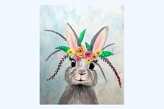 All Ages Paint Nite: Floral Bunny II