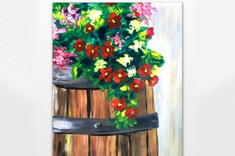 Virtual Paint Nite: Flower Barrel