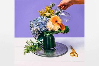 Flower Workshop Winter Blossom Floral Design Arrangement