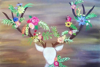 Paint Nite: Flowers For My Deer