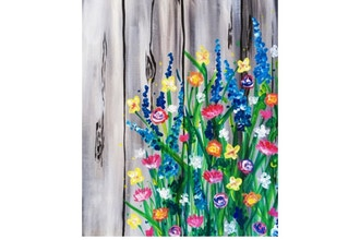 Paint Nite: Flowers by the Fence (Ages 6+)
