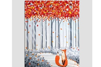 Paint Nite: Fox In The Fall