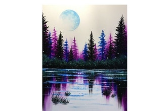 Paint Nite: Frosted Lake