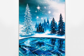 Paint Nite: Frozen Winter Lake II