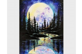 Paint Nite: Full Moon Forest Reflections