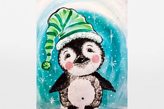 All Ages Paint Nite: Fuzzy Baby Penguin