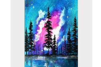 Paint Nite: Galaxy Forest Lake