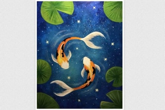All Ages Paint Nite: Galaxy Koi (Ages 6+)