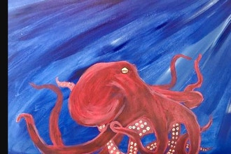 Virtual Paint Nite: Giant Octopus (Ages 6+)