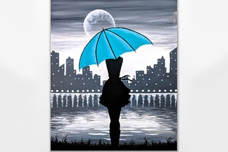 Paint Nite: Girl with the Teal Umbrella