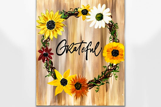 Grateful Sunflower Wreath