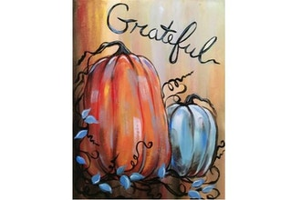 Paint Nite: Gratefulness and Pumpkins