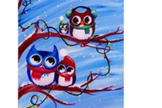 Paint Nite: Happy Owlidays