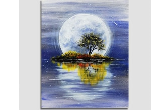 Paint Nite: Harvest Moon Reflection