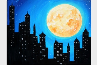 Virtual Paint Nite: Harvest Moon in the City (Ages 6+)