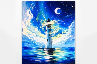 Paint Nite: Hope is like a lighthouse