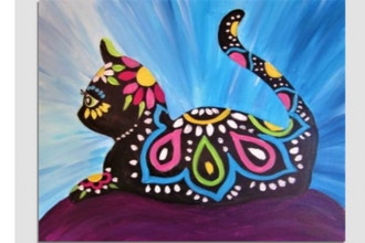 Virtual Paint Nite: Illustrated Cat (Ages 6+)