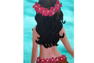 Virtual Paint Nite: Island Girl (Ages 13+)
