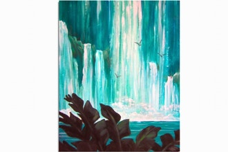 Paint Nite: Island Waterfalls