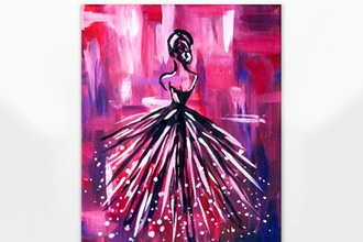 Virtual Paint Nite: Lady en Rose (Ages 6+)